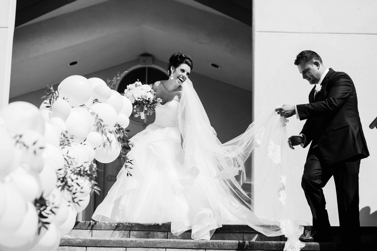Candid black and white greek orthodox wedding // FunkyTown Wedding Photography Victoria BC