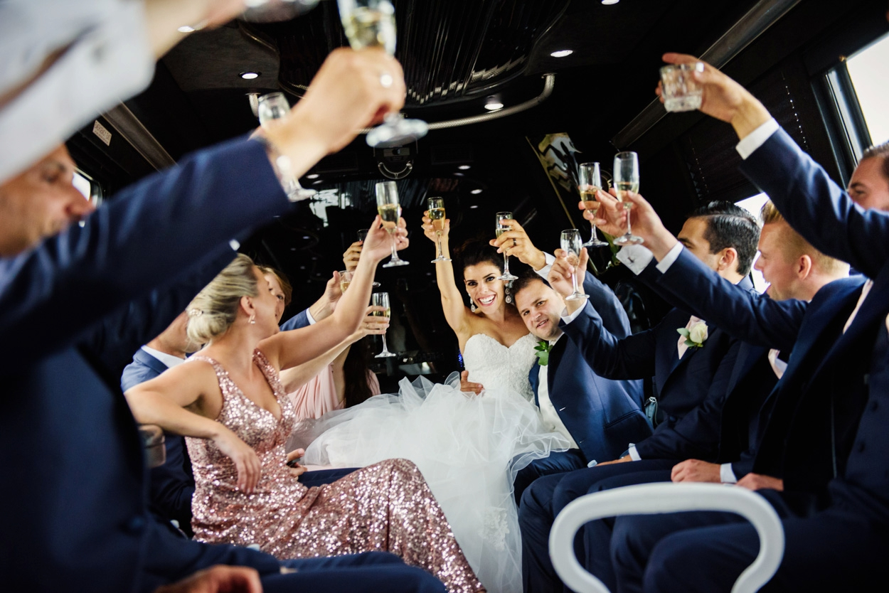 LA Limos Bus // FunkyTown Wedding Photography Victoria BC