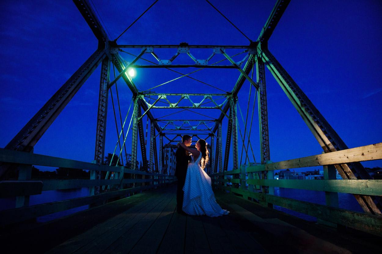 Wedding Photography Twilight portrait GL1 hotlight Westham Island Bridge