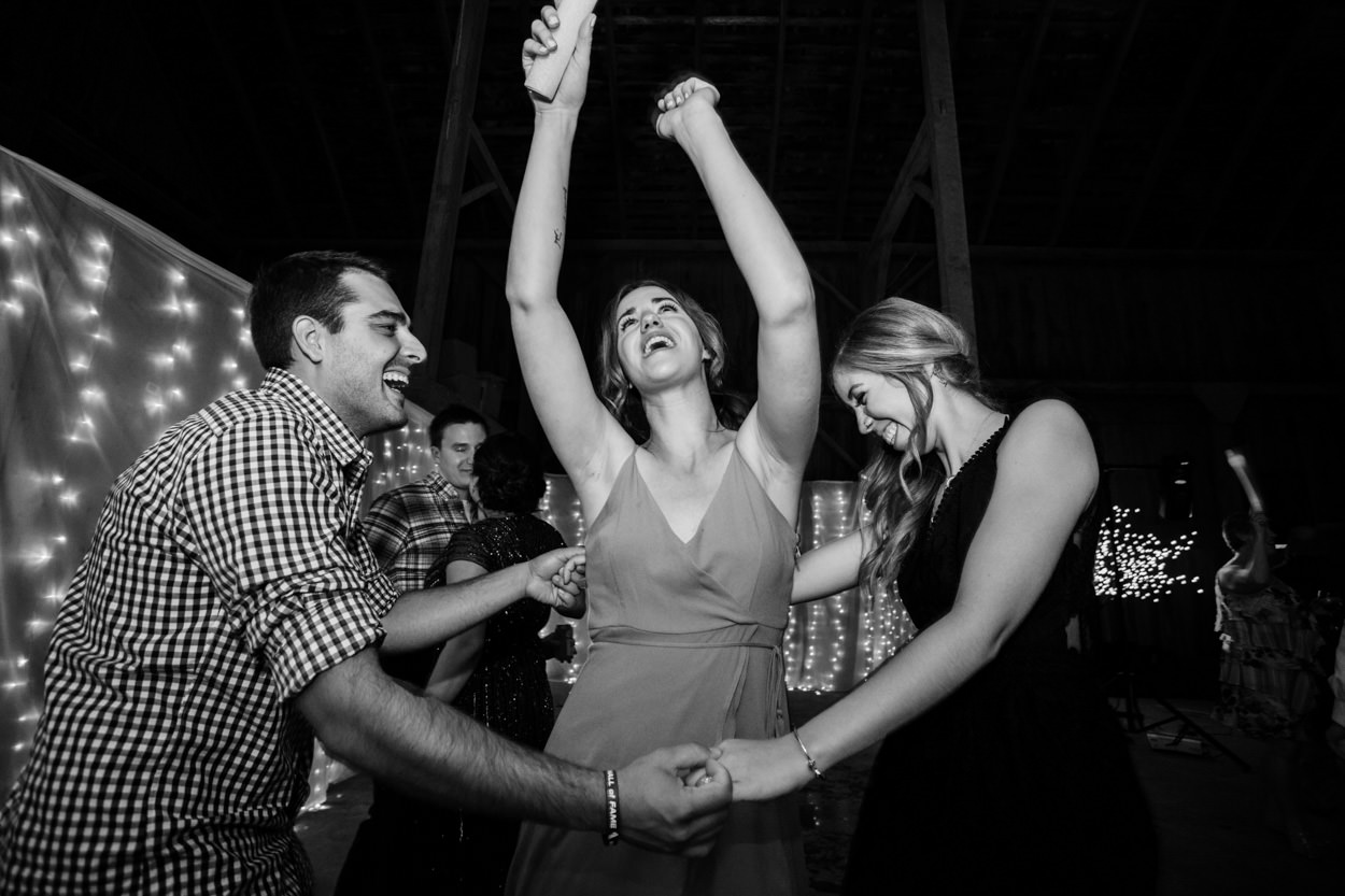 Wedding Reception at a barn on Westham Island // Nicole & Jamie's Wedding held at the barn Roddick's Farm // Delta, British Columbia // Victoria & Vancouver Wedding Photographers FunkyTown Photography // www.funkytownphotography.com