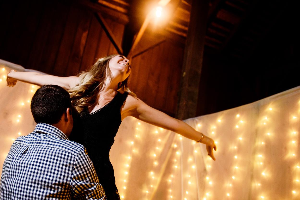 Wedding Reception at a barn on Westham Island //Nicole & Jamie's Wedding held at the barn Roddick's Farm // Delta, British Columbia // Victoria & Vancouver Wedding Photographers FunkyTown Photography // www.funkytownphotography.com
