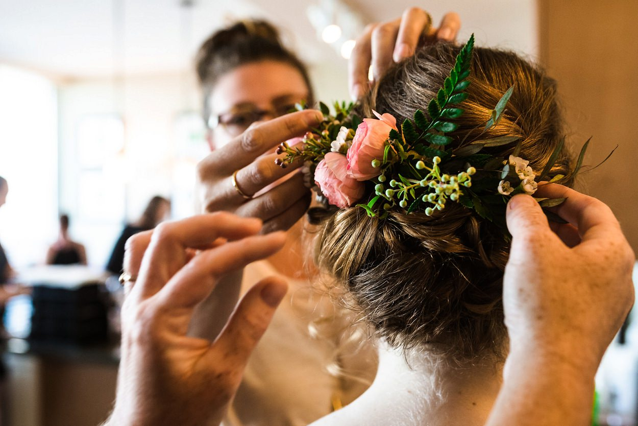 Garden backyard wedding in Victoria BC by FunkyTown Photography Rook and Rose Flowers