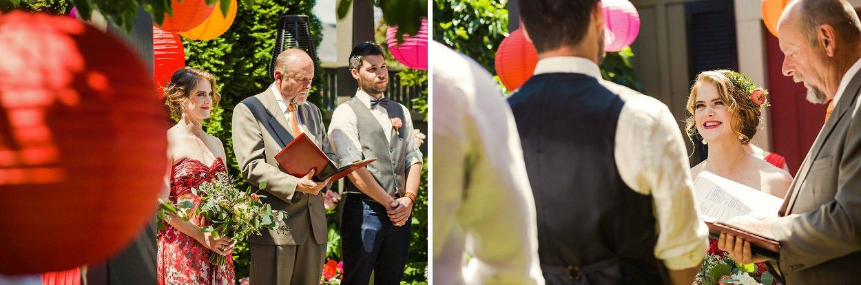 Garden backyard wedding in Victoria BC by FunkyTown Photography