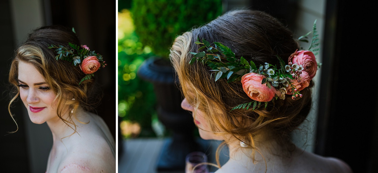 Rook and Rose Garden backyard wedding in Victoria BC by FunkyTown Photography