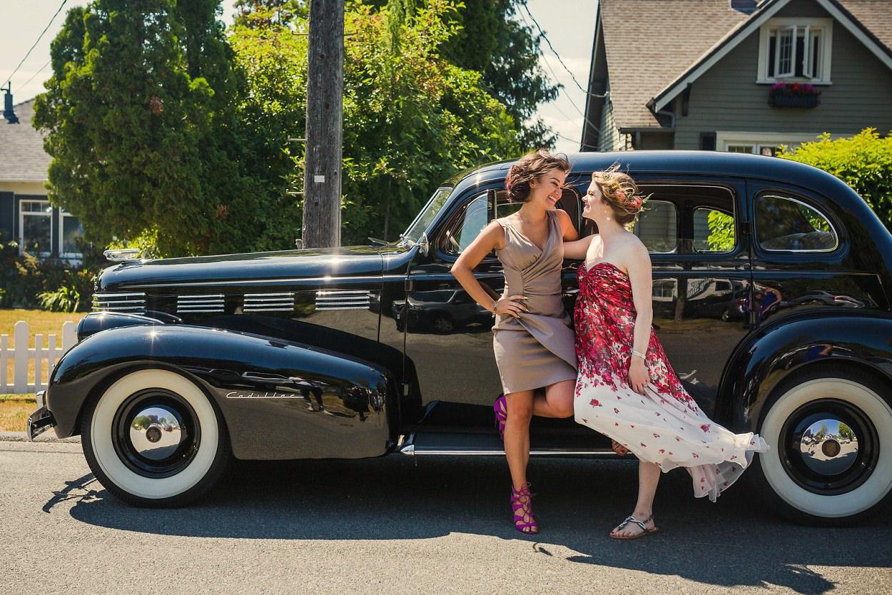 Antique Car at a wedding in Victoria BC