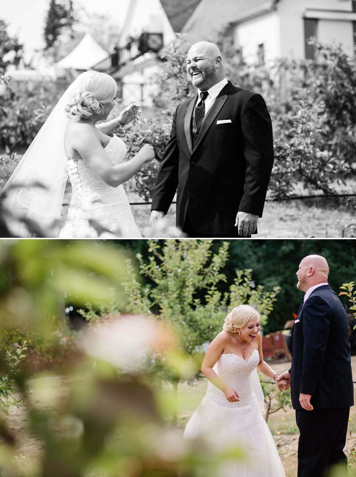Diane & Jim's beautiful apple orchard wedding at Sea Cidery in Victoria BC. Photographed by FunkyTown Photography