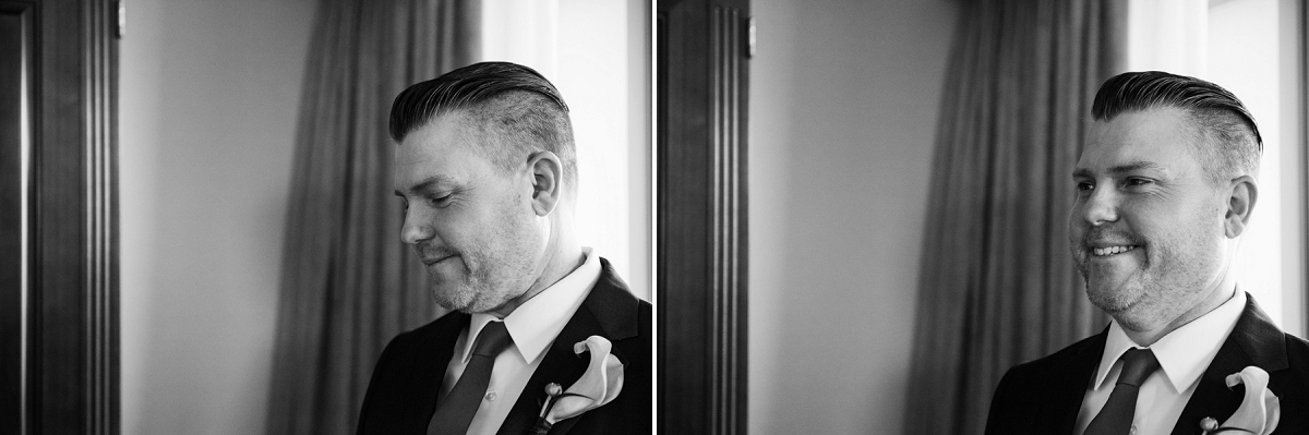 First Look for a wedding at the Hotel Grand Pacific in Victoria BC