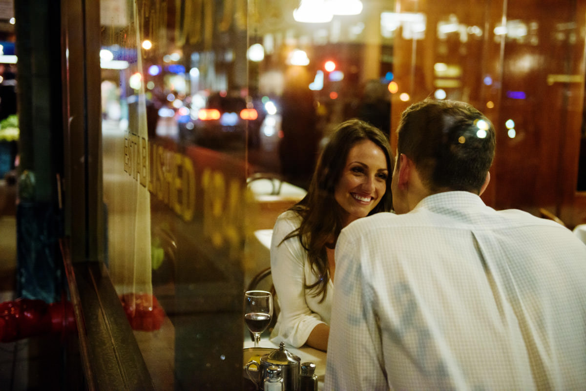 The Tadich Grill SFO Oldest Restaurant Engagement Portraits
