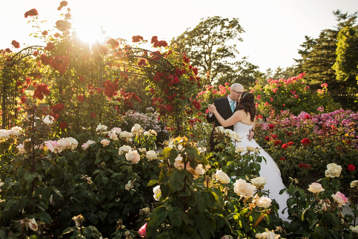 Beacon Hill Park rose garden Wedding Portraits by @funkytownphotography