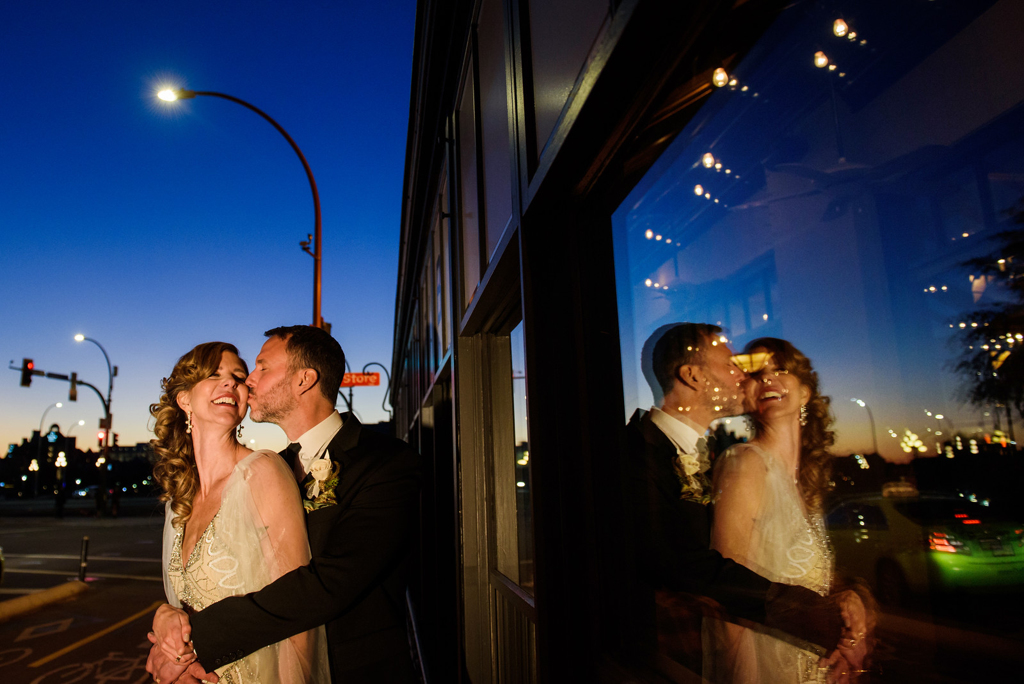 Wedding Photography of a small fall wedding on the rooftop of Swans in downtown Victoria BC