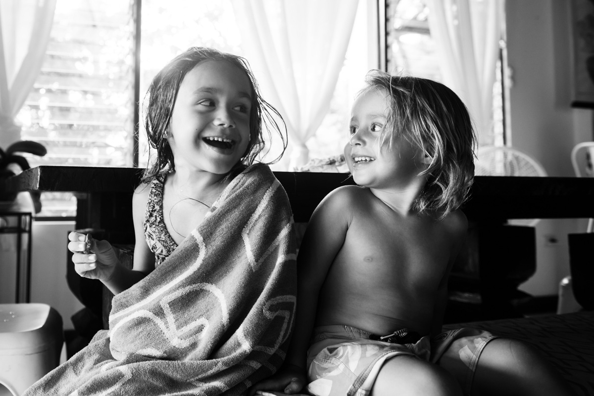 Family portraits at home by documentary photojournalism family photographer Christina Craft of FunkyTown Photography