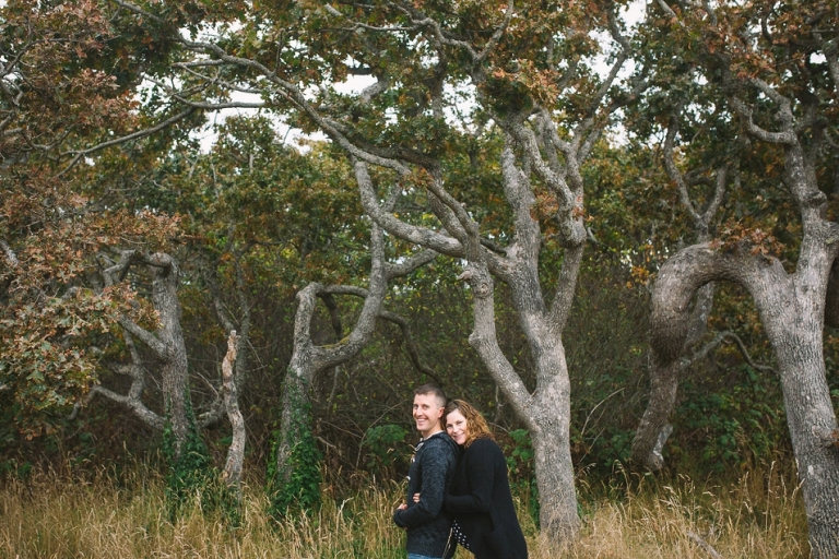 Engagement portraits at Beacon Hill Park in Victoria BC