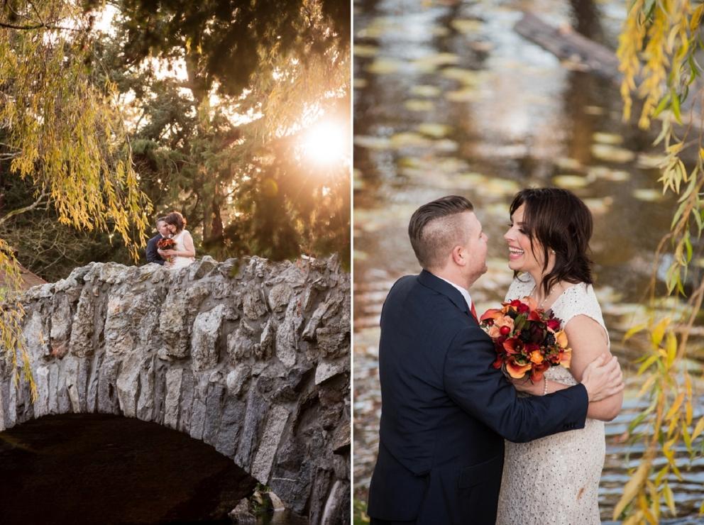 Pop up wedding at the stone bridge Beacon Hill Park Wedding Photography
