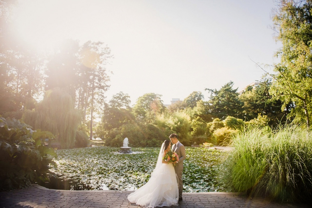 Hayley Paige Gown wedding portraits at Beacon Hill Park