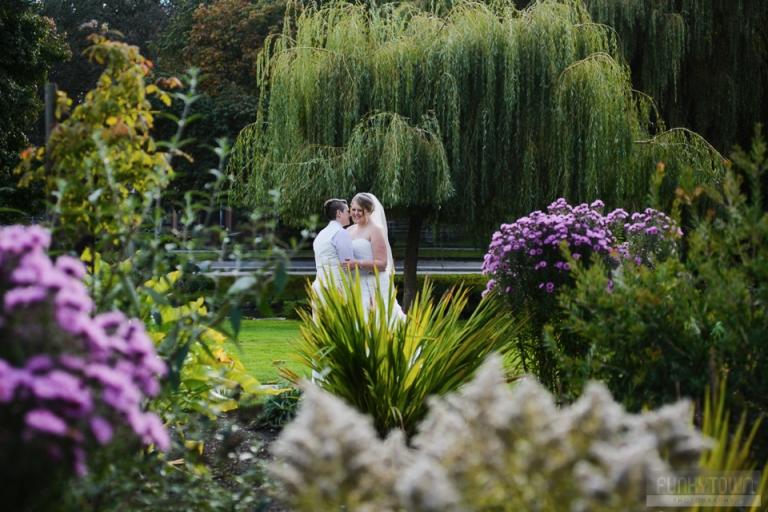 Garden portraits Wedding portraits at Beacon Hill Park