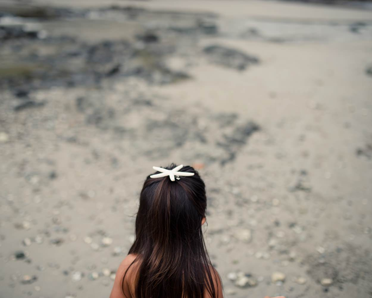 Family portrait photography girls in flower crowns on beach