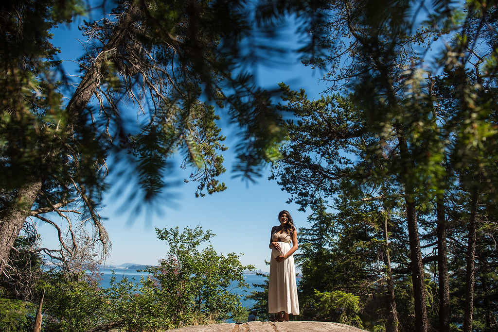 Maternity Portrait Lighthouse Park West Vancouver by Victoria BC Photographer Christina Craft