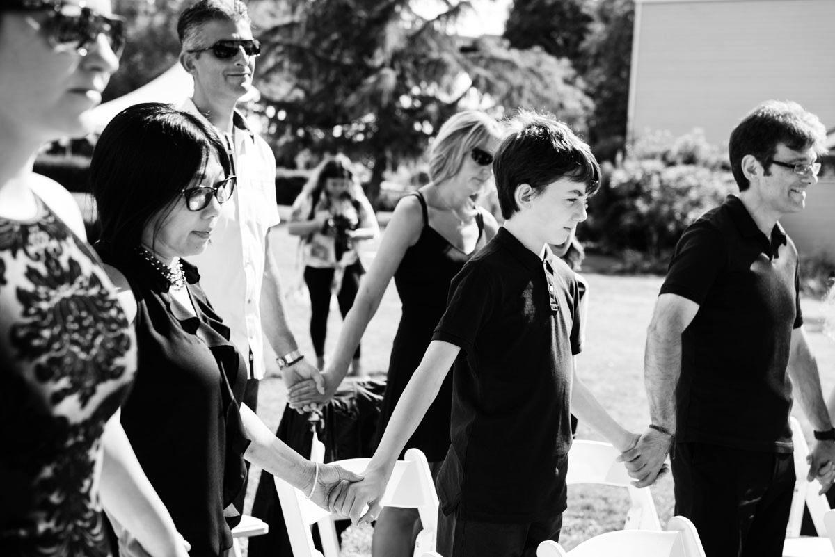 Unique interactive wedding ceremony Vancouver Island